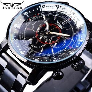腕時計 機械式 ブラック 曜日 カレンダー