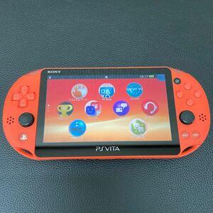 SONY PS Vita PCH-2000 Wi-Fiモデル ネオンオレンジ 中古品