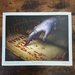 MTG《血の署名/Sign in Blood》Howard Lyon サイン入りアートプリント/複製原画