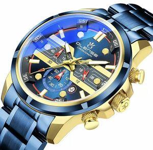 最高級★高品質★腕時計 メンズ 男性用 OLENSE 防水 夜光 耐衝撃 日付 クォーツ式 クロノグラフ 多機能 豪華 ビジネス