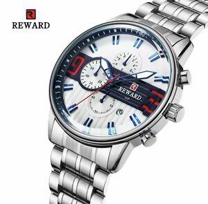 REWARD/海外高級人気ブランド!腕時計 メンズ ウォッチ 多機能防水 夜光 耐衝撃 日付 クロノグラフ クォーツ式 上質