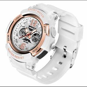 人気格安新品 女性用スポーツの腕時計 防水LED多機能のデジタル腕時計 クォーツ時計