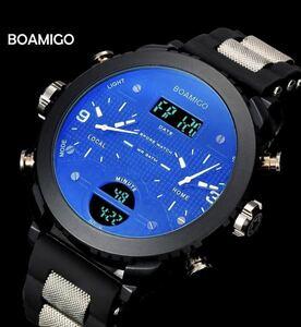 【新品】メンズ腕時計 LED デジタル腕時計 防水 スポーツ腕時計