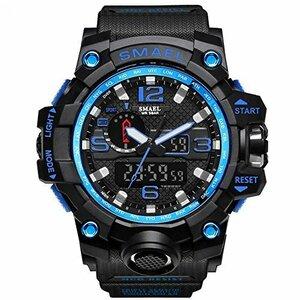 新品腕時計 メンズ SMAEL腕時計 メンズウォッチ 防水 スポーツウォッチ アナログ表示 デジタル クオーツ腕時計BYPQ
