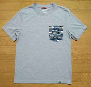 送料210円~☆エルエルビーン☆ポリエステル混 半袖Tシャツ/モクグレー デジカモポケ/メンズS