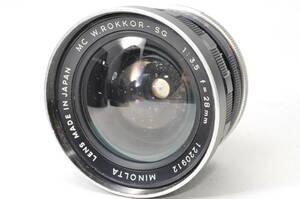 ジャンク扱い・部品取りなどに ミノルタ MINOLTA MC W.ROKKOR-SG 28mm F3.5 ♯A1029