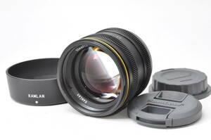 新品級・レアなレンズ カムラン KAMLAN 50mm F1.1 M43 マイクロフォーサーズ ♯A933