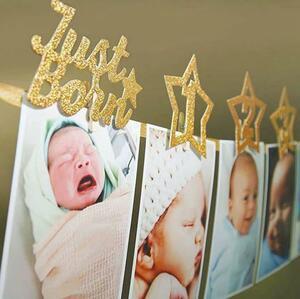 フォトガーランド 誕生日 ファーストバースデー 壁飾り 写真撮影 お祝い