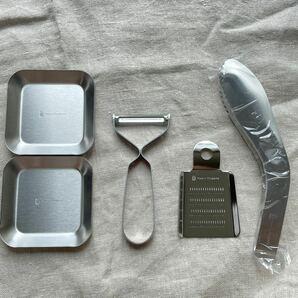 燕三条 燕 キッチンツールセット トング 薬味皿ピーラー おろし金 5点セット