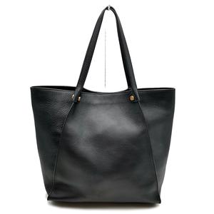 送料無料 美品 エコー ECCO ハンドバッグ トートバッグ 鞄 スカルプチャー レザー 本革 牛革 黒 ブラック系 レディース