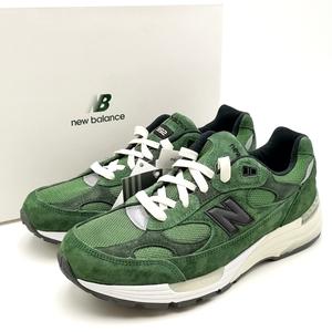送料無料 新品 未使用 ニューバランス NEW BALANCE ジョウンド jjjjound スニーカー 靴 シューズ 20SS M992JJ スエード 27.5cm 緑系 メンズ