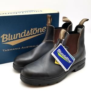 送料無料 新品 未使用 ブランドストーン Blundstone サイドゴアブーツ 靴 シューズ 500 レザー UK9 27-27.5cm相当 ダークブラウン メンズ