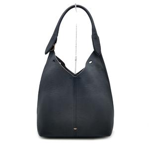 送料無料 超美品 アニヤハインドマーチ ANYA HINDMARCH トートバッグ ワンショルダーバッグ 鞄 肩掛け レザー 本革 紺系 レディース