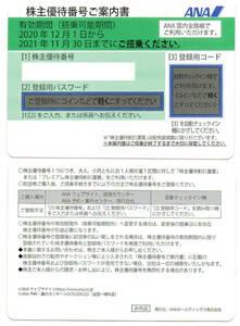 ☆全日空 ANA 株主優待 半額券 1枚 2021年11月30日 - 延長2022年5月31日迄