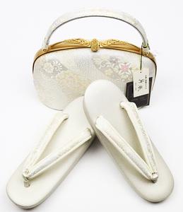 紗織 留袖用 草履 バッグ セット Mサイズ S7518 和装小物 着物 レディース シルク オールシーズン 送料無料 新品