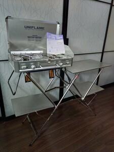 ユニフレーム(UNIFLAME)ツインバーナー US-1900 & キッチンスタンドⅡ & LTトートL セット(バラ売り不可)