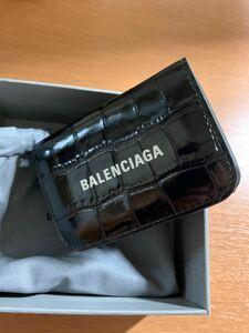 新品! バレンシアガ 財布 三つ折り 593813 クロコ