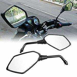 style-1 Szmsmy バイクミラー 汎用 M10 正/逆ネジ L/R オートバイ 川崎 ホンダ PCX GROM グロム