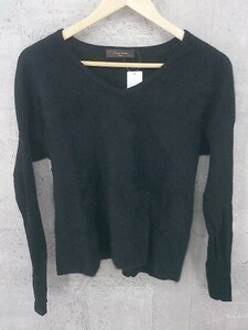 ◇ Demi-Luxe BEAMS デミルクス ビームス 長袖 Vネック セーター ブラック * 1002798209824