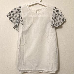 半袖カットソー Tシャツ ホワイト トップス レディース