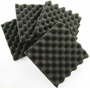 厚さ 3cm WhiteLeaf 波型 ウレタンフォーム スポンジ 吸音材 緩衝材 クッション材 密度26kg/m3 25cm&