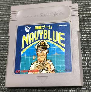 【動作確認済み】ゲームボーイソフト 海戦ゲームNAVYBLUE ネイビーブルー