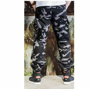 LDL2265# DUHAN バイクパンツ メンズ スポン ライダース プ 大きいサイズあり ジョガー トラック 裾にゴム カーゴ 春秋夏 迷彩柄
