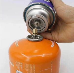 カセットボンベからアウトドア用ボンベに 軽量 詰替えアダプター