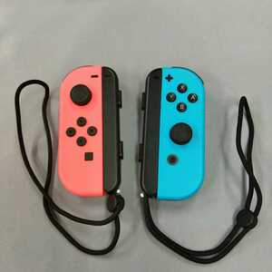 中古品 Nintendo Switch Joy-Con ネオンブルー ネオンレッド ストラップあり