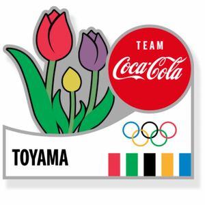 コカコーラ 東京オリンピック ピンバッジ 都道府県 ピンバッチ 富山県  コカ・コーラ