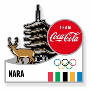 コカコーラ 東京オリンピック ピンバッジ 都道府県 奈良県 ピンバッチ