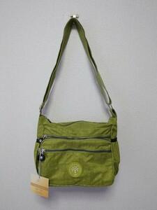 ショルダーバッグ ナイロンバッグ ライトグリーン 撥水 バッグ 緑 男女兼用