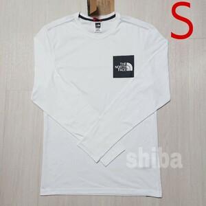 THE NORTH FACE ノースフェイス 長袖 ロンT ロング tシャツ ホワイト 白 ファイン Fine 海外Sサイズ