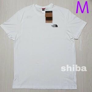 THE NORTH FACE ノースフェイス tシャツ 半袖 トップス 白 ホワイト シンプルドーム simple 海外Mサイズ