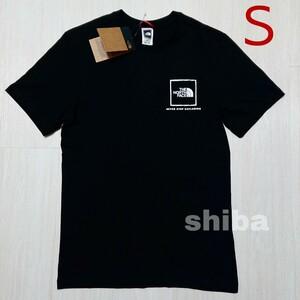 THE NORTH FACE ノースフェイス tシャツ 半袖 黒 ブラック 人気 ファイン Fine ボックスロゴ 海外Sサイズ
