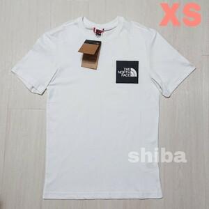 THE NORTH FACE ノースフェイス tシャツ 半袖 白 ホワイト 人気 ファイン Fine ボックスロゴ 海外XSサイズ