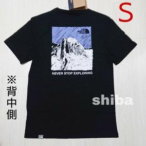 THE NORTH FACE ノースフェイス tシャツ 半袖 黒 紫 ブラック イラストゥレイティブマウンテン 海外Sサイズ