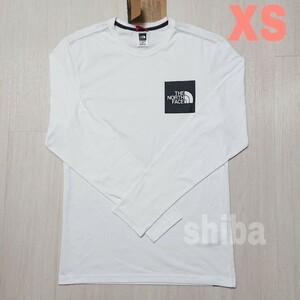 THE NORTH FACE ノースフェイス 長袖 ロンT ロング tシャツ ホワイト 白 ファイン Fine 海外XSサイズ