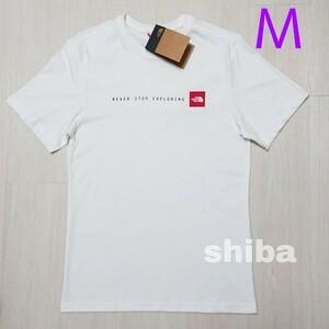 THE NORTH FACE ノースフェイス tシャツ 半袖 ホワイト 白 海外限定 NSE t-shirt 海外Mサイズ