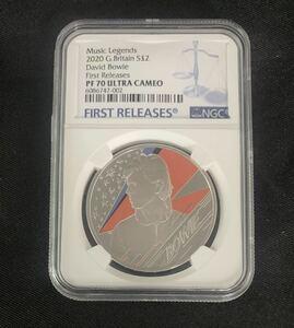 【最高鑑定】2020 イギリス デヴィッドボーイ NGC PF70 UC 銀貨 1オンス 2ポンド ファーストリリース モダンコイン 英国