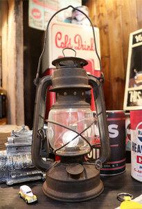 1円 新品 レトロな雰囲気がGOOD♪アンティークランタン型LEDランプ サビ加工 ヴィンテージ風 インダストリアル 男前インテリア