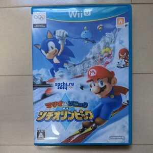 【処分】WiiU マリオ&ソニックATソチオリンピック ウィーユー 任天堂 ニンテンドー ソフト ジャンク ソチオリンピック 2014