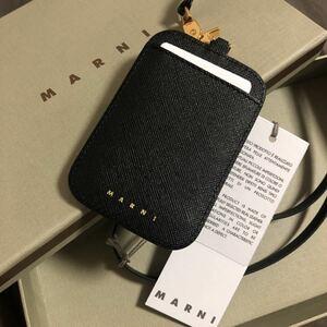 限定 新品未使用タグ付き マルニ MARNI 定期ケース 名刺入れ 社員証ケース ネームホルダー 定期入れ カードケース