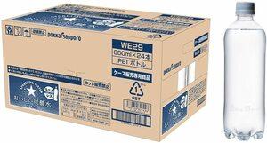 ▽ 送料無料 サッポロ おいしい炭酸水 ラベルレス 600ml × 24本