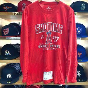 【2XL】 MLB 公式 Fanatics USA ファナティクス 大谷翔平 #17 LA Angels ロサンゼルス エンゼルス 長袖 Tシャツ ロンT 野球 USA正規品