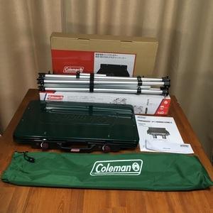【送料無料/新品】コールマン Coleman パワーハウス(R)LPツーバーナーストーブⅡ + ツーバーナースタンド 2点セット グリーン キャンプ