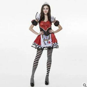 ハロウィン衣装 ハートの女王 コスチューム仮装 コスチューム 大人用 衣装 コスプレ 大人 コスプレ衣装 可愛い レディース 魔女 MTE32