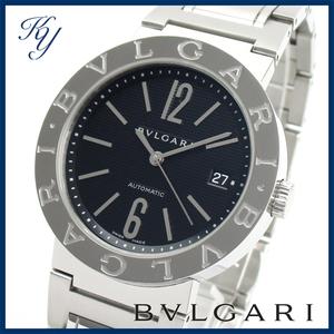 送料無料 3ヶ月保証付き 磨き済み 美品 本物 定番 人気 BVLGARI ブルガリ BB38 SS AUTO 自動巻き ブラック メンズ 時計(2)
