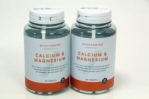 ①【未使用】MYPROTEIN マイプロテイン CALCIUM&MAGNESIUM 90錠×2個  カルシウム マグネシウム