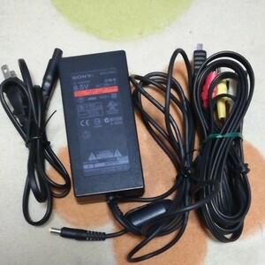SONY プレステ2 ACアダプター AVケーブル 電源ケーブル セット 動作確認済み